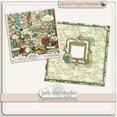 For the Love of Boys quick page freebie from Jady Day Studio #digiscrap #scrapbooking #digifree #scrap #freebie #scrapbook