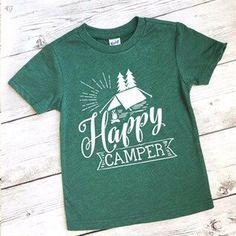 eb22fe7dc6b0 Happy camper shirt - camping shirt - toddler shirt - hip toddler shirt -  toddler boy shirt - wild shirt - camping shirt for kids