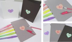 Pastel shades of Soufflé pens are the perfect colors for making custom conversation heart cards. Draw a heart with Soufflé and wait about 10 minutes for it to dry. Add a second layer and let it dry too. Then with a light touch, write your favorite phrase with Gelly Roll Moonlight in Red. So cute!