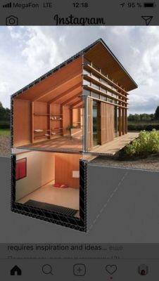 Container House - Rooijakkers Tomesen Architecten Lightcatcher - Maisons particulières Who Else Wants Simple Step-By-Step Plans To Design And Build A Container Home From Scratch? Sunken bedroom for safetyCan also switch Bottom & top floor's function Tiny House Cabin, Tiny House Design, Modern House Design, Contener House, Cabin Homes, Modern Shed, Building A Container Home, Storage Container Houses, Cargo Container