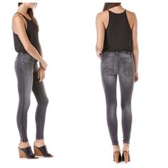 """Level 99 MID-RISE SKINNY W/ZIPPERS Level 99 JANICE MID-RISE ULTRA SKINNY W/ZIPPERS jeans.   Based on Janice, our slimmest fit, this Mid-Rise ankle zip skinny is tight from thigh to ankle. Featuring a clean four pocket design, 9"""" front rise and a gap-free contoured waistband, Janice is sexy AND comfortable.  Rise- 9"""", Inseam- 29"""". Leg Opening- 9.5"""" Fabric 60% Cotton, 33% Tencel, 6% Polyester, 1% Spandex Brand new with tags still attached.  No trades. Anthropologie Jeans Skinny"""