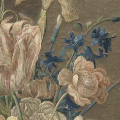 Tableau van veelkleurig geborduurde zijde, Wynant Haelwegh, 1650 - Rijksmuseum