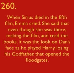 Bonus Fact: originally, we were going to be able to hear Harry crying when Sirius died but apparently his screaming was so traumatic, producers and director decided it'd be too much for viewers so they silenced it. If you ask me, it worked. The silent crying & screaming was a brilliantly sad, final, sentimental touch to the scene. :' (