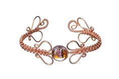 Copper bracelet with murano