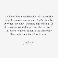 She feels most loved [16/365] - - - - - - #poetry #prosepoetry #love #quotes #prose #excerptfromabookillneverwrite #originalwork #him #tumblr #writinglife #writing #creativewriting #writtenwords #words #wordporn #spilledink #writersofinstagram #poetsofinstagram #lovepoem #blog #passion #relationship #feelings #writersofig #poetsofig #cynthiago