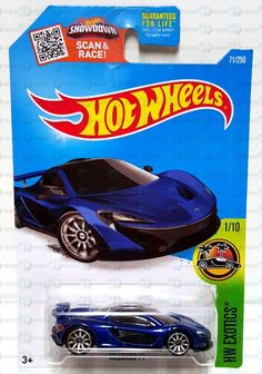 New 2016 Hot Wheels HW Exotics Mclaren P1 #1 71/250 Diecast Car Vehicle #HotWheels