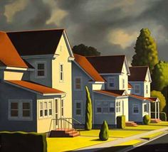 Kenton Nelson 'An error occurred' Grant Wood, Diego Rivera, Retro Art, Vintage Art, Landscape Art, Landscape Paintings, Landscapes, The New Yorker, Fernando Pessoa