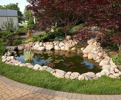 Ideas for our next fish pond or garden water feature.
