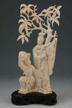 Chinese Carved Ivory Beauties