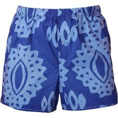 Men Boxers - Eyelet: Blueberry - XL