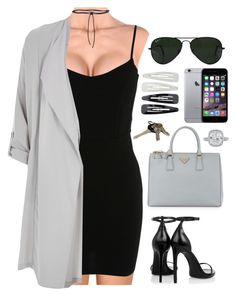 """""""business woman"""" by chestfilled ❤ liked on Polyvore featuring Ray-Ban, Forever 21, Miss Selfridge, River Island, Aamaya by Priyanka, Yves Saint Laurent, Prada, Apple, Avon and BusinessWoman"""