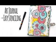 (327) Art Journal - Easy Stenciling - YouTube
