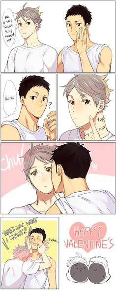 Daichi x Sugawara - Happy Valentine's Day!!