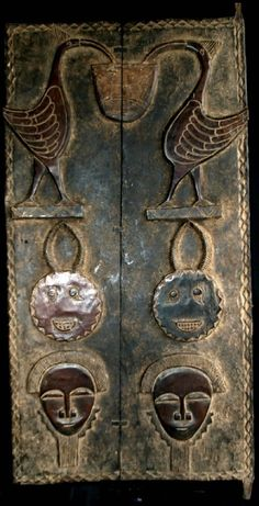Ivory Coast, Africa House door from the Baoule people Cool Doors, Unique Doors, Afrique Art, The Doors Of Perception, When One Door Closes, Door Gate, House Doors, Ivory Coast, Door Knockers
