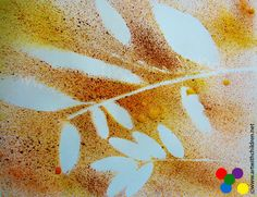 Art with Children: Spray painting with autumn colours