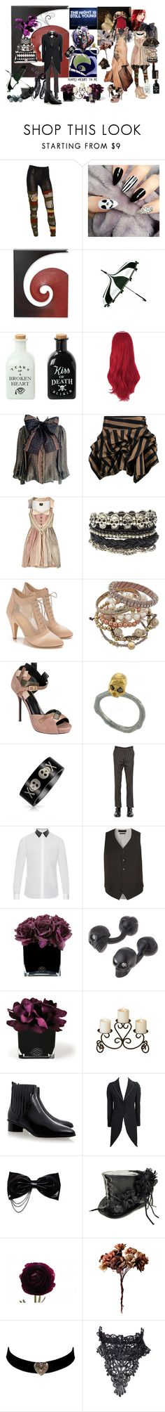 """""""We can live like Jack and Sally"""" by verysmallgoddess ❤ liked on Polyvore featuring Junya Watanabe, NOVICA, MAC Cosmetics, Hot Topic, J. Mendel, Pauline Trigère, Kelly Ewing, Vivienne Westwood Anglomania, ASOS and Loeffler Randall"""