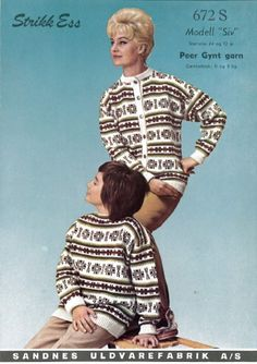 Ravelry: Siv 672 S pattern by Sandnes Garn Vintage Knitting, Hand Knitting, Embroidery Patterns, Knitting Patterns, Knitting Ideas, Norwegian Knitting, Knit Jacket, Mittens, The Incredibles