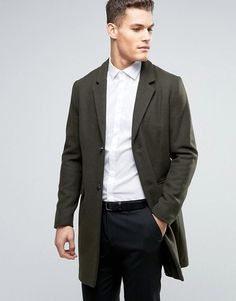 Get this Pull&Bear's wool coat now! Click for more details. Worldwide shipping. Pull&Bear Wool Overcoat In Khaki - Green: Coat by Pull Bear, Heavyweight wool-mix fabric, Soft-touch finish, Lined with an interior pocket, Notch lapels, Button placket, Functional pockets, Regular fit - true to size, Do not wash, 54% Wool, 44% Polyester, 2% Other Materials, Our model wears a size Medium and is 6'4�/193cm tall. Born in the 90s, Pull Bear aren�t ones to suffer stereotypes. With a big nod to str...
