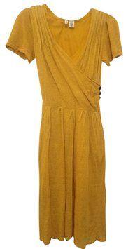 Anthropologie Goldenrod Knit Sweater Dress $50