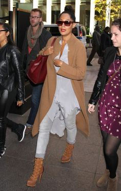 Tracee Elliss Ross's Sirius XM Radio Christian Dior Fall 2011 Brown Lace Up Button Boots