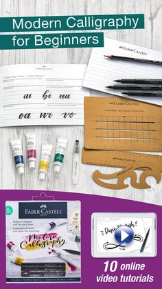 Modern Calligraphy for Beginners Calligraphy Kit, Calligraphy For Beginners, Modern Calligraphy, Creative Video, Creative Studio, Pitt Artist Pens, Writing Styles, Faber Castell, Hand Lettering
