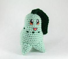 FREE PATTERN Crochet Chikorita Pokemon Amigurumi by StringsAway