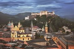 Birthplace of #Mozart, is a city in central #Austria, near the #German (Bavarian) border with a population of some 150,000 in 2013. If you have seen the movie The Sound of #Music, you may think you know all there is to see in Salzburg. Admittedly, it is difficult not to spontaneously burst into song when you're walking along the #Salzach River, or climbing up to the #Hohensalzburg fortress which looms over the city. . #salzburg #österreich #austria #salzach #mülln #stadt #city #abend… Salzburg, Austria, Climbing, Paris Skyline, German, Walking, Movie, River, Songs