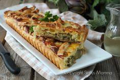 Torta salata di carciofi alla ligure con pasta sfoglia ricetta sfiziosa svuota frigo di stagione per un semplice e gustoso secondo vegetariano