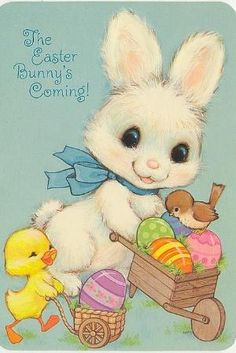 Vintage Easter card by cassie