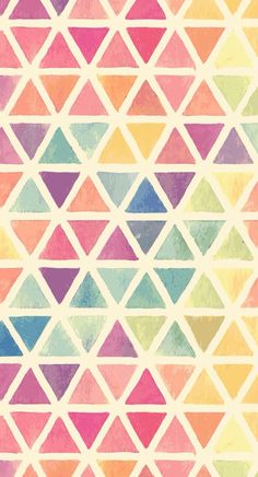 When I saw this wallpaper, immediately knew it was pattern. The consistent use of perfect symmetrical triangles and watercolour really brings my mood up. Cute Backgrounds, Cute Wallpapers, Wallpaper Backgrounds, Desktop Wallpapers, Whatsapp Wallpaper, Art Graphique, Pretty Patterns, Cool Wallpaper, Colorfull Wallpaper