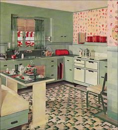 1930's kitchen colors