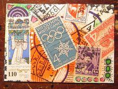 postage-themed ATC