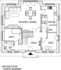 Grundriss erdgeschoss huf haus modum 8 10 ideen rund ums for Haus mit plan