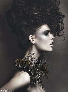 VOGUE ITALIA ONLINE   Hair and Makeup by Anna Nenoiu,  Photography by Matthew Guido  (Please keep credits intact)