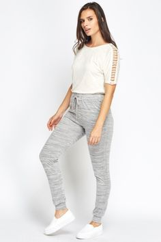 Studded Side Trim Jogger Pants - GREY - £5 - on Everything5pounds.com