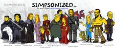 Game of Thrones com os traços de Os Simpsons