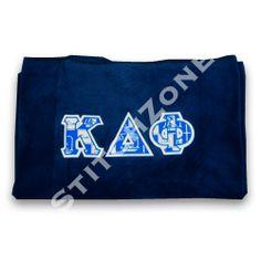 alpha Kappa Delta Phi Stadium Blanket starting at $35 #alphakappadeltaphi # sorority #stitchzone #embroidery #custom #greekletters #twill