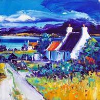 Summer Lane Torridon Colorbox, Vibrant Colors, Colours, Oil On Canvas, Landscape, Gallery, Summer, Painting, Art