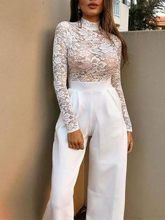Sexy Lace Crochet High Collar Long Sleeve Shirt – blouse designs latest,lace blouses,women blouses,solid colour blouse outfit,autumn blouses for women Lingerie Set, Women Lingerie, Long Sleeve Bodysuit, Long Sleeve Shirts, Look Fashion, Womens Fashion, Fashion Trends, Fashion Styles, Outfit Vestidos