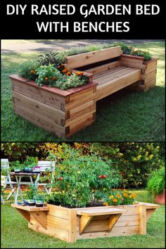 raised garden bed with benches - Best Raised Garden Beds