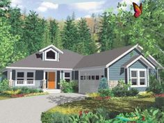Traditional House Plan Front of Home  Glastonberry Ranch Home 144D-0004 | House Traditional House Plan Front of Home  Glastonberry Ranch Home 144D-0004 | House<br> Traditional House Plan Front of Home Glastonberry Ranch Home 144D-0004 | House Small Modern House Plans, Small Cottage House Plans, Porch House Plans, Simple House Plans, Basement House Plans, House Plans One Story, House Plans And More, Craftsman Style House Plans, Craftsman Ranch