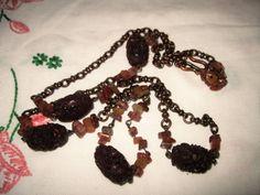 Antique Carved Celluloid Plastic Large beads by vintagecarose