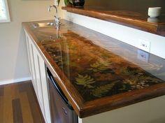 Custom resin countertop More