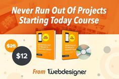 Never Run Out Of Projects Starting Today Course from 1stwebdesigner - only 12!