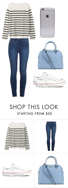 """""""Preppy #1"""" by laurenmiller23 ❤ liked on Polyvore featuring Paige Denim, Converse and Michael Kors"""