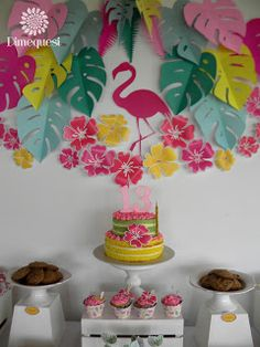 Dimequesi 's Birthday / Flamingos - Photo Gallery at Catch My Party Party Decoration, Birthday Decorations, Flamenco Party, Flamingo Craft, Flamingo Birthday, Tropical Party, Unicorn Party, Party Themes, Party Ideas