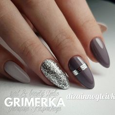 Winter nails allow you to show off all those cute wintry themes. Check out our collection of original winter-themed nail designs with glitter nails, matte nails, snowflakes, and gold. Manicure Gel, Manicure Nail Designs, Gel Nail Art, Nail Polish, Gel Manicures, Manicure Ideas, Nail Nail, Hot Nails, Hair And Nails