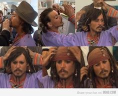 Johnny Depp's transformation into Jack Sparrow