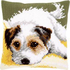 Little Dog Wagging its Tail - Kruissteekkussen - Vervaco