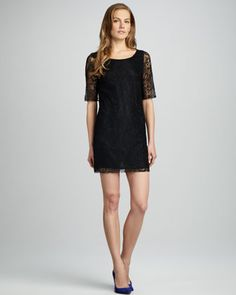 Nicole Lace Shift Dress by Patterson J. Kincaid at Neiman Marcus.